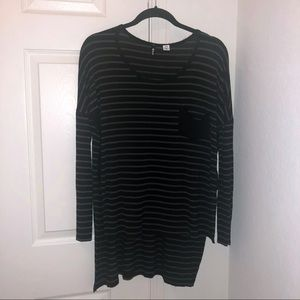 Urban Outfitters High Low Striped Tunic